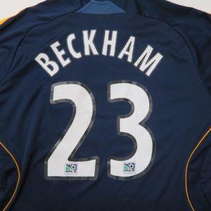 a5b311e6e adidas Shirts - Beckham Adidas LA Galaxy MLS Long Sleeve Jersey